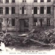Noyon oise cpa 1917 la gendarmerie