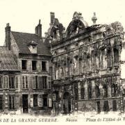 Noyon oise cpa 1914 1918 hotel de ville