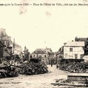 Noyon oise cpa 1914 1918 hotel de ville place cote rue des merciers