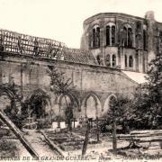 Noyon oise cpa 1914 1918 jardin du cloitre