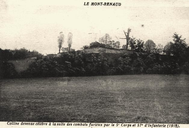 Noyon oise cpa 1914 1918 mont renaud colline apres 1919
