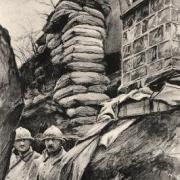 Noyon oise cpa 1914 1918 mont renaud guetteurs avril 1919