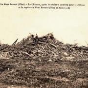 Noyon oise cpa 1918 mont renaud les ruines du chateau