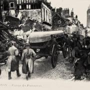 Noyon oise cpa 1914 1918 passage des pontonniers