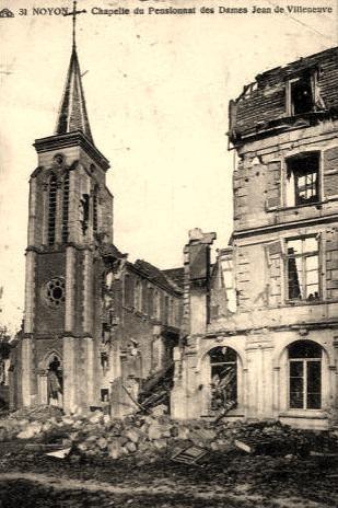 Noyon oise cpa 1914 1918 pensionnat saint thomas 1919