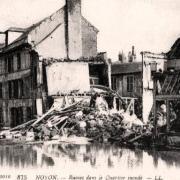 Noyon oise cpa 1914 1918 quartier inonde