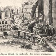 Noyon oise cpa 1914 1918 recherche des mines allemandes