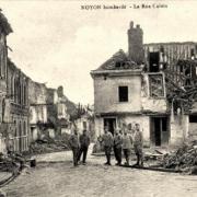 Noyon oise cpa 1914 1918 rue calvin