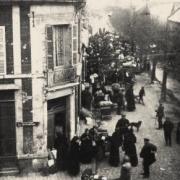 Noyon oise cpa 1915 Evacuation rue du coizel