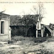 Noyon oise cpa septembre 1918 tarlefesse la grande rue