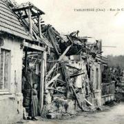 Noyon oise cpa 1914 1918 tarlefesse rue de genvry
