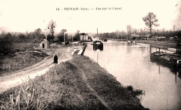 Noyon oise cpa canal