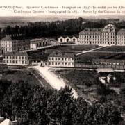 Noyon oise cpa casernes quartier cambronne avant 1918