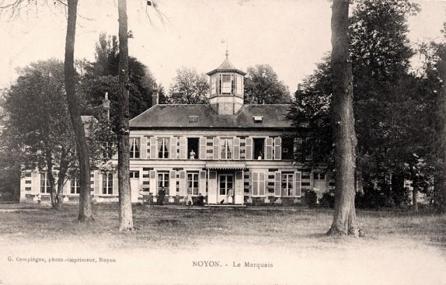 Noyon oise cpa chateau du marquais avant 1915