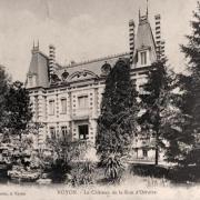 Noyon oise cpa chateau rue d orroire