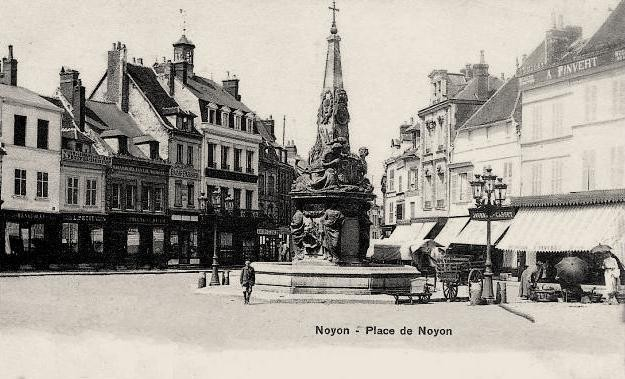 Noyon oise cpa fontaine