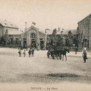 Noyon oise cpa gare avant 1915