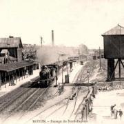Noyon oise cpa gare en 1905