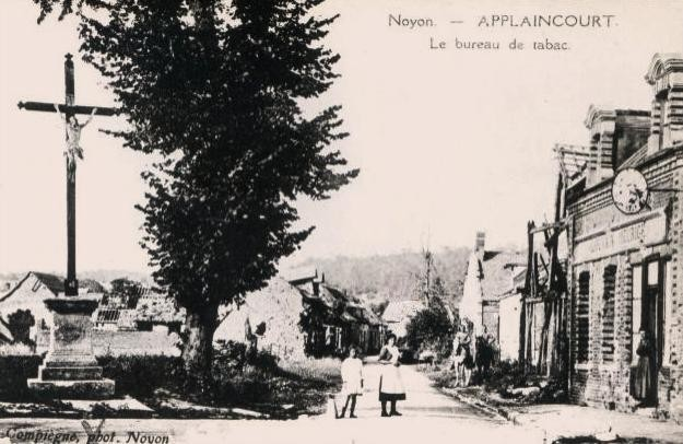 Noyon oise cpa applincourt apres 1915