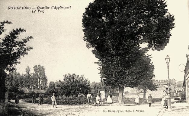 Noyon oise cpa applincourt avant 1914