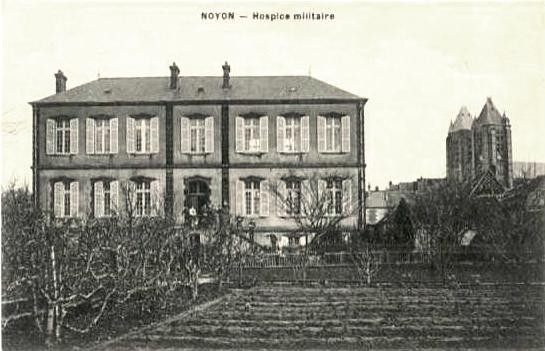 Noyon oise cpa hospice militaire