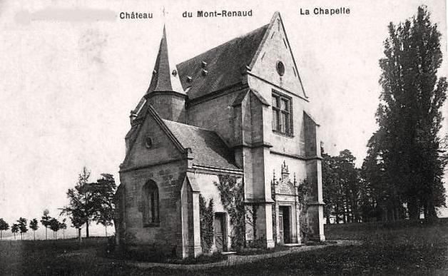 Noyon oise cpa mont renaud chapelle du chateau avant 1915