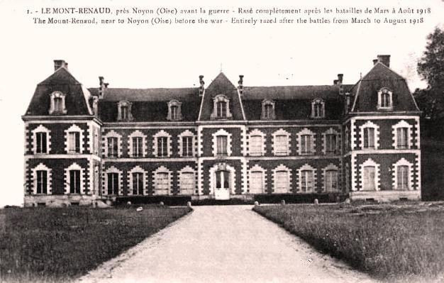 Noyon oise cpa mont renaud chateau avant 1914