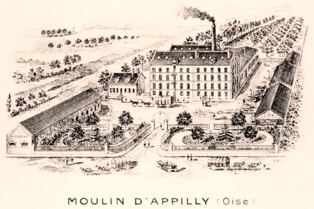 Noyon oise cpa moulin d appilly avant 1915