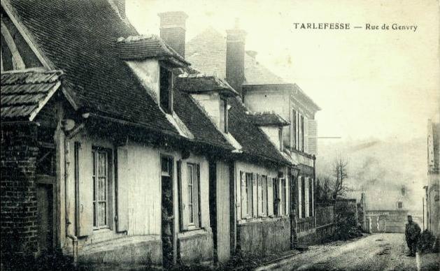 Noyon oise cpa tarlefesse hameau rue de genvry