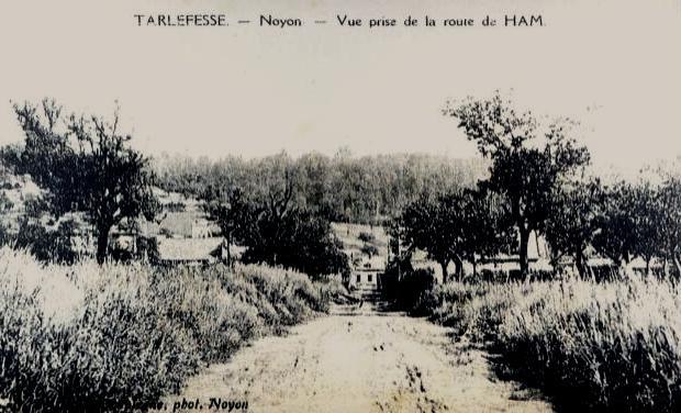 Noyon oise cpa tarlefesse hameau vue de route de ham