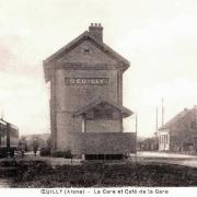 Oeuilly (Aisne) CPA gare