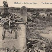Oeuilly (Aisne) CPA pont sur l'aisne 1914