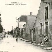 Oeuilly (Aisne) CPA route de Beaurieux