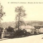 Oeuilly (Aisne) CPA route de la sucrerie