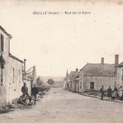Oeuilly (Aisne) CPA rue de la gare