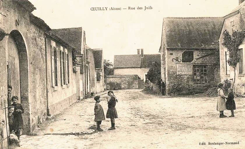 Oeuilly (Aisne) CPA rue des juifs