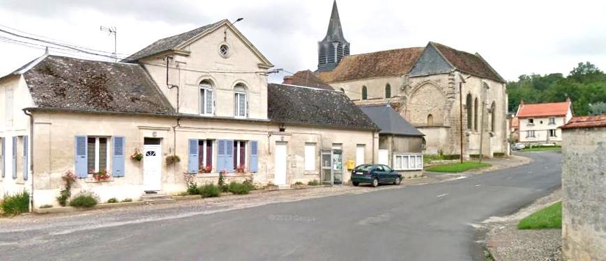 Oeuilly (Aisne) mairie, église Saint Rémi