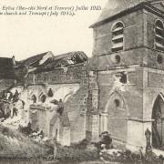 Pargnan (Aisne) CPA église en 1915