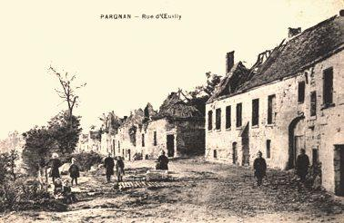 Pargnan (Aisne) CPA rue d'Oeuilly