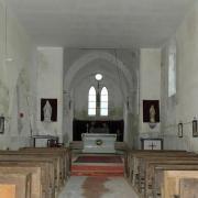 Pargny-la-Dhuys (Aisne) intérieur de l'église Saint Martin
