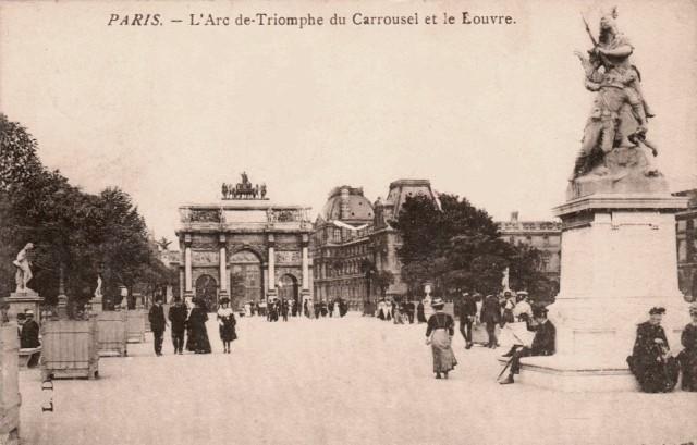 Paris 75 l arc de triomple du carousel cpa