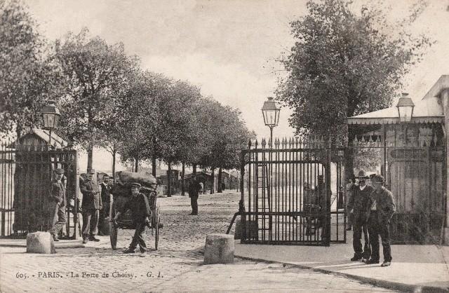 Paris 75 la barriere de la porte de choisy cpa
