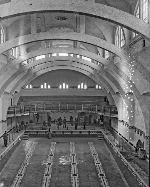 Paris 75 la piscine de la butte aux cailles en 1924 cpa