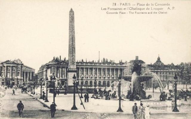Paris 75 la place de la concorde cpa