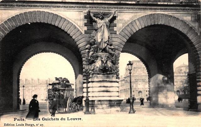Paris 75 le louvre les guichets cpa