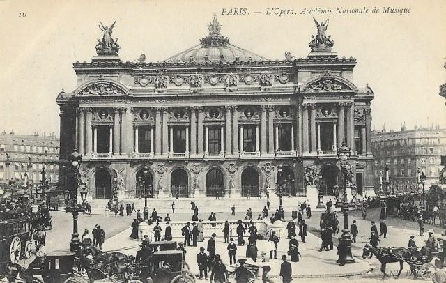 Paris 75 opera palais garnier cpa
