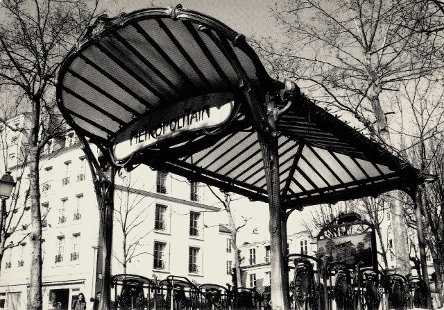 Paris 75 une station guimard abbesses cpa