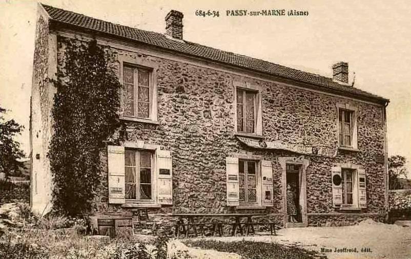 Passy-sur-Marne (Aisne) CPA Café Jeoffroy