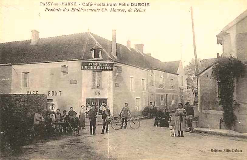 Passy-sur-Marne (Aisne) CPA Café-restaurant Félix Dubois