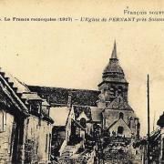 Pernant (Aisne) CPA L'église en 1917